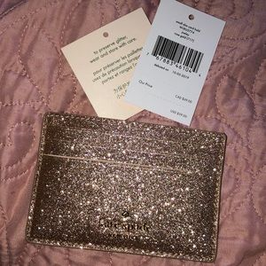 Kate Spade Glitter Card Holder